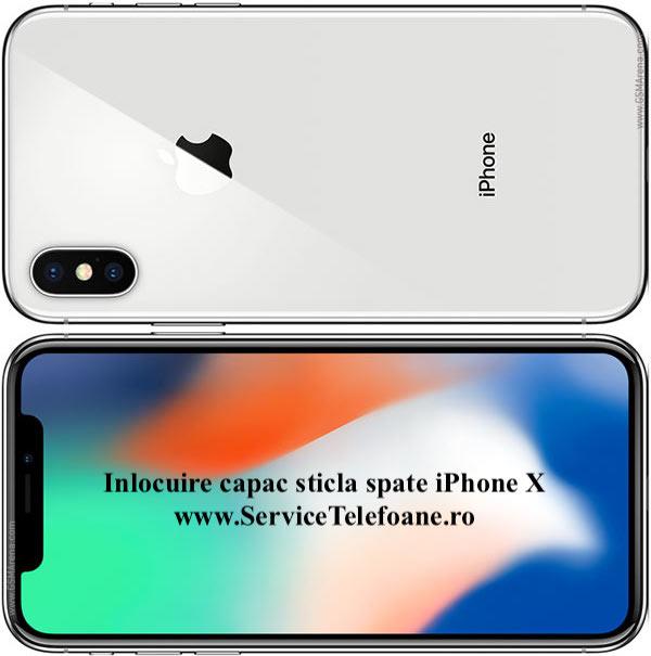 inlocuire capac sticla spate Apple iPhone X